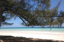 Pelican point - one of the spectacular beaches on the island