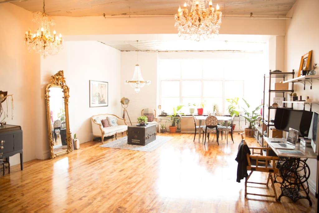 Spacious and bright loft space. South Facing.