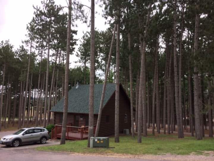 Log cabin at Christmas Mountain
