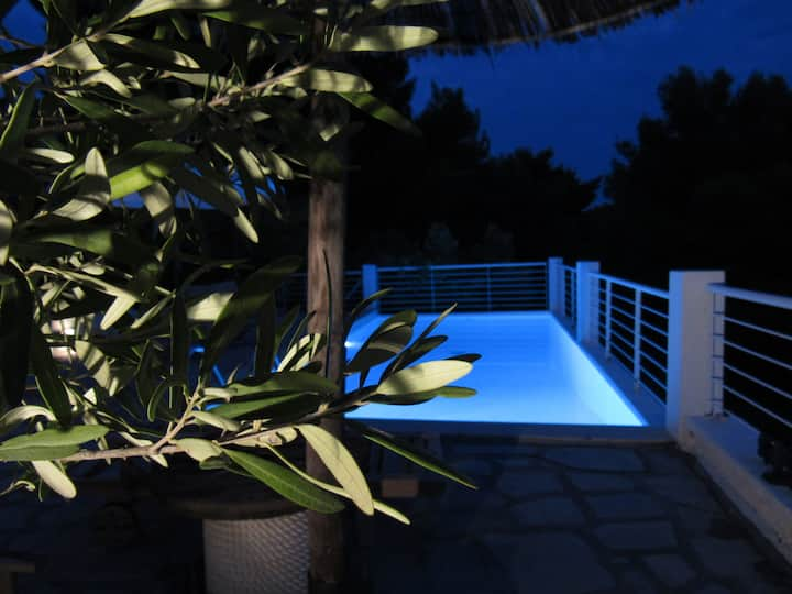 Villa In Poseidi,private pool,outstanding sea view
