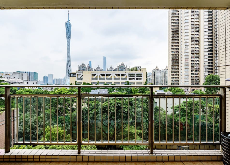 阳台风景,看广州塔全景