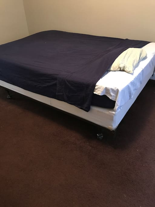 guestroom bed.