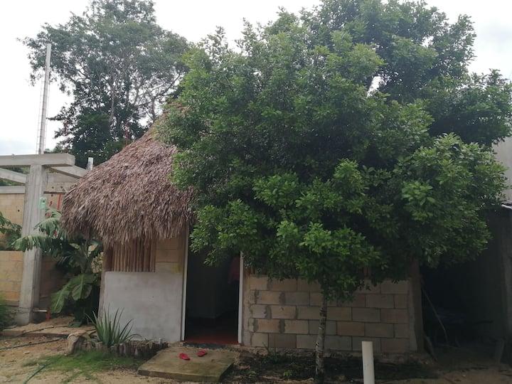 Comoda casa estilo palapa en chunyaxte