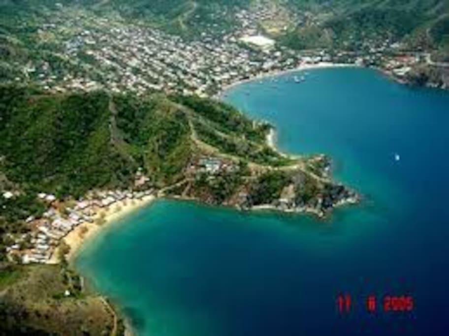 Paisaje de Taganga y Playa Grande