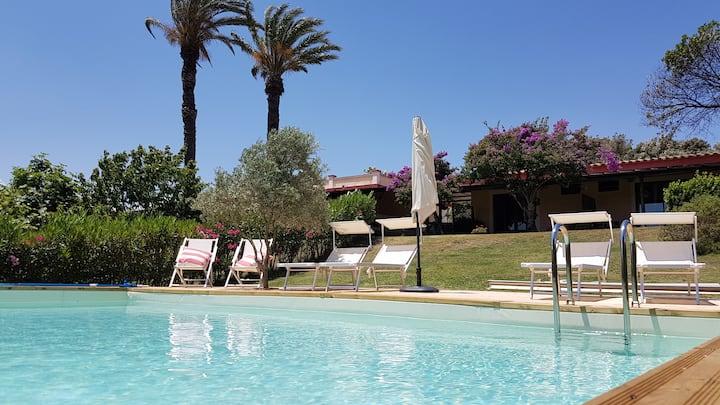Villa con piscina privata in parco naturale
