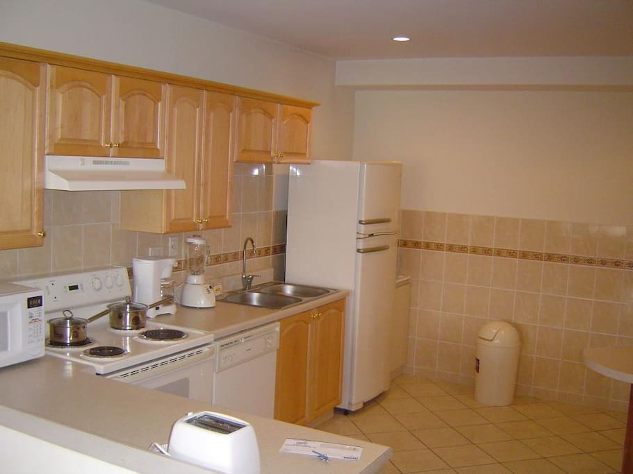 Big and well equipped kitchen