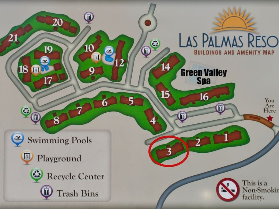 Map at the entrance. We are located in section #3