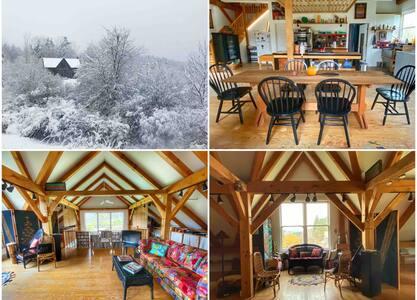 Stunning Post and Beam House & Studio