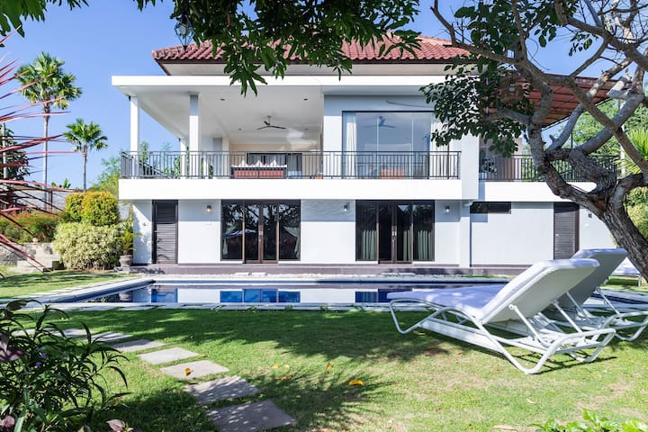 White Residence with Big Garden