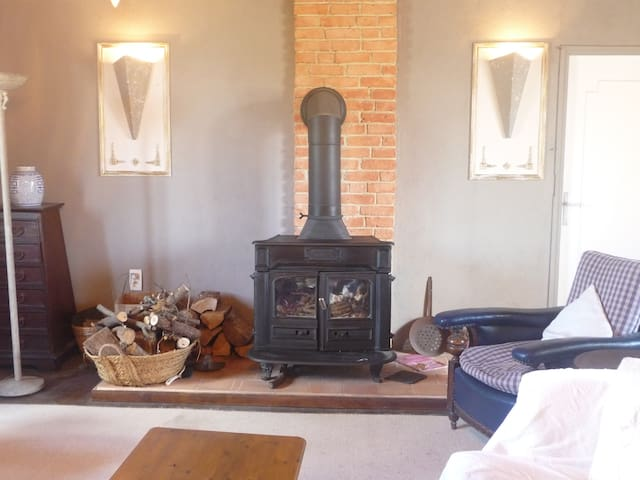 First Floor Salon with Wood Burner and Free-Sat TV
