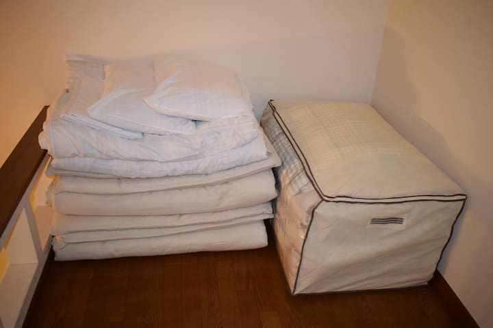 Japanese futon beds and fresh linens