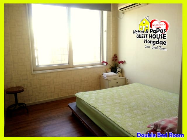 Mamas and Papas Guesthouse in Seoul - Double Room