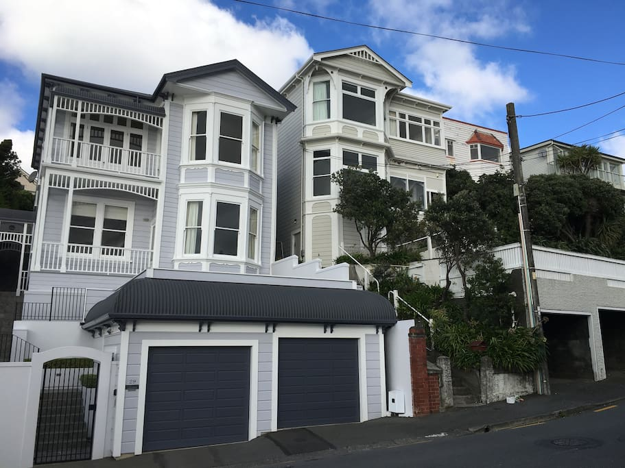 Bottom unit in a charming two storey house.