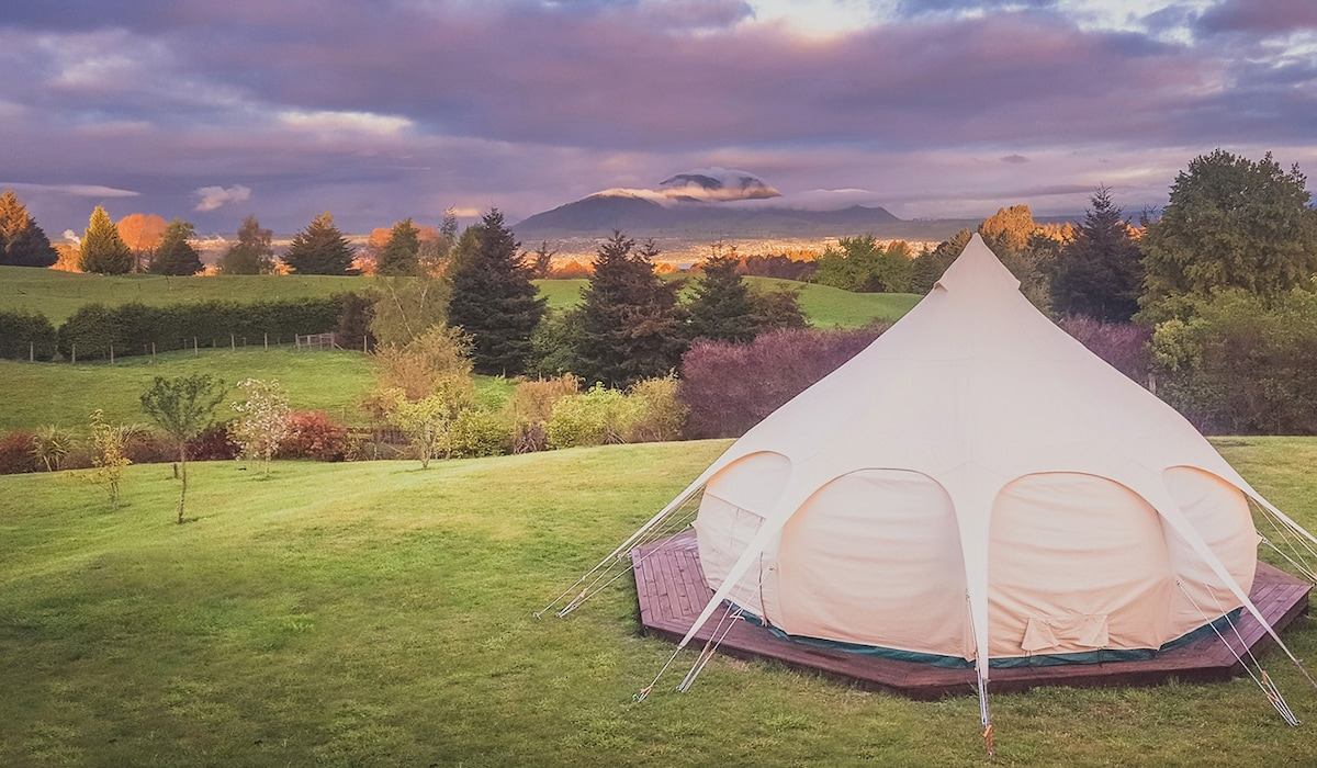 View Photos & MountViews Glamping - Tents for Rent in Taupo Waikato New Zealand