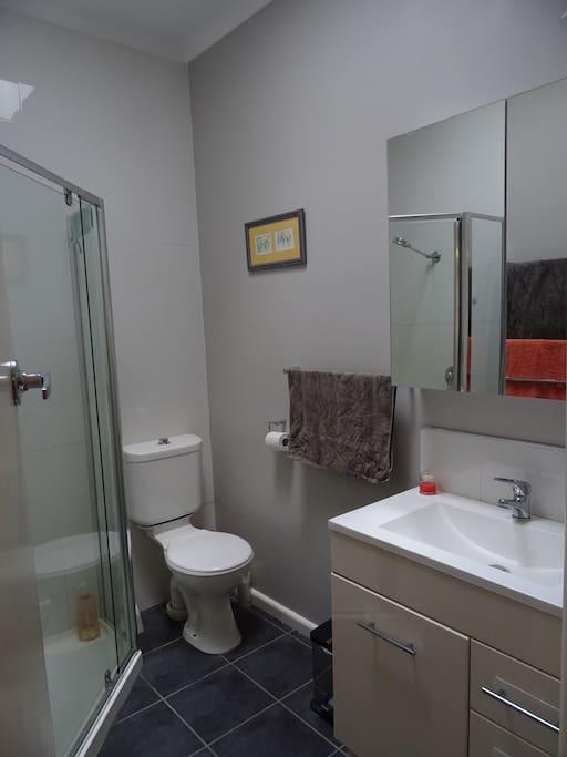 The primary bathroom