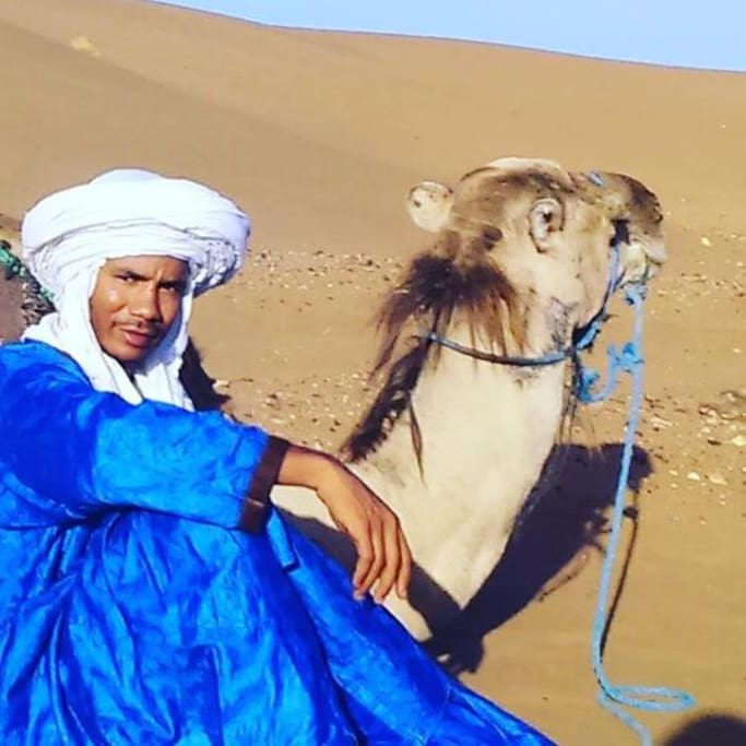 me and my camel mahboub in tinfou dune