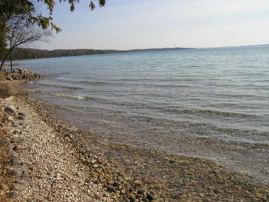 torch Lake shore line