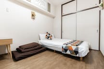 Bedroom 1: 1 semi-double bed,  1 single futon accommodates up to 3 persons