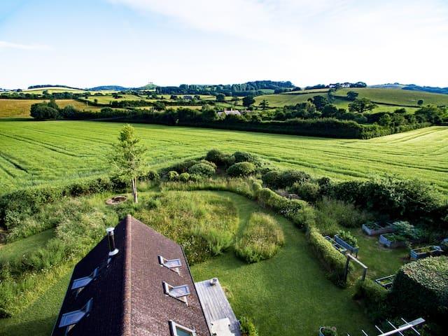 view from upstairs bedroom & garden