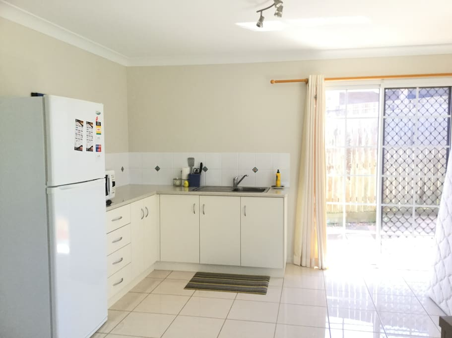 Kitchenette - microwave, fridge and sink. Cutlery is also available.