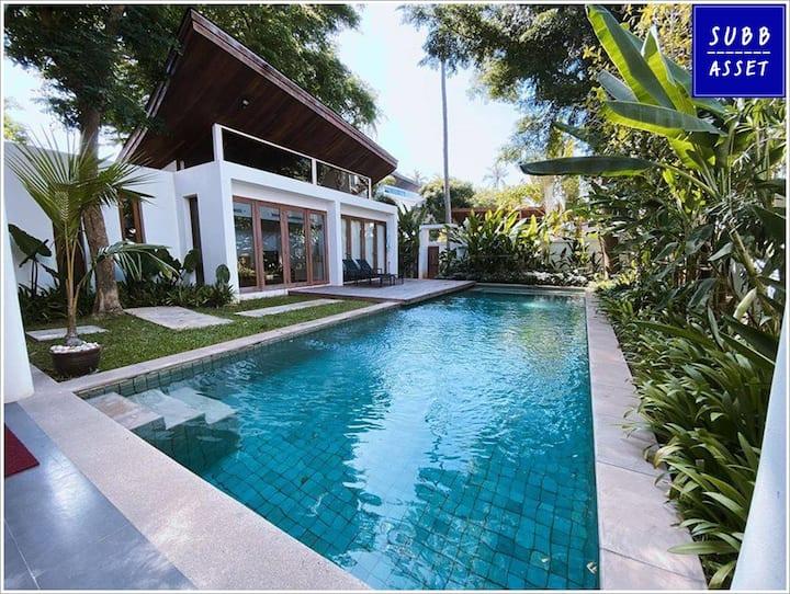 PoolVilla for 10 Persons | 1min to Pranburi Beach