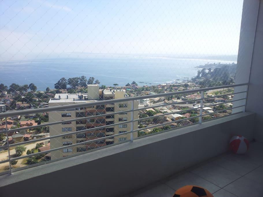 Gran vista al mar, terraza