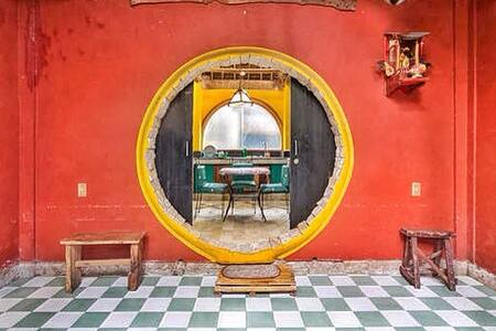 The Hobbit House, Green Room - Malay - Maison écologique