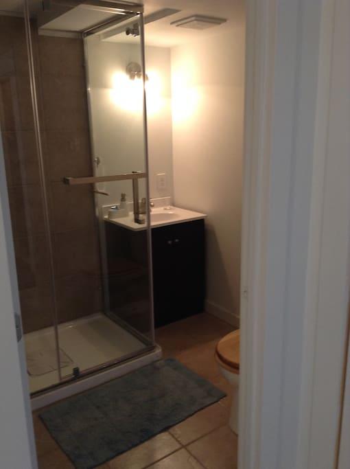 Salle d bain avec douche . Non-partagée