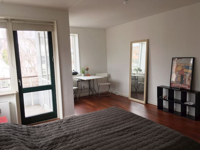 Large room with balcony - Frederiksberg