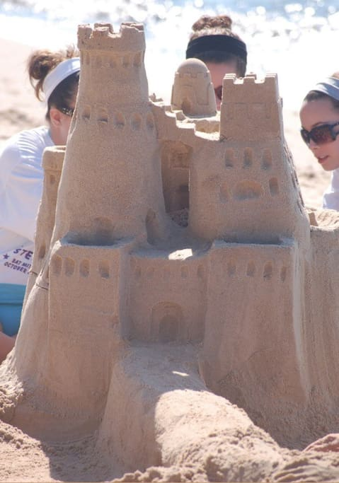 Head to the beach to build an epic sand castle