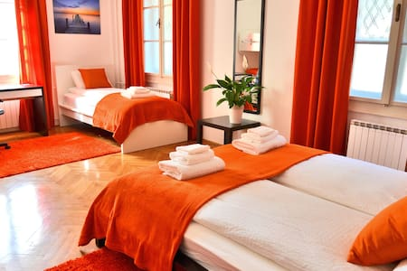 Big room for 5, b&b, guesthouse Soul Ljubljana - Lubiana - Bed & Breakfast