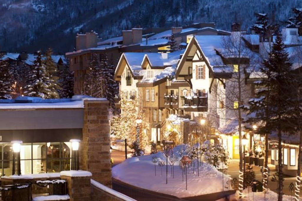 Beautiful alpine village setting in the heart of Vail Village