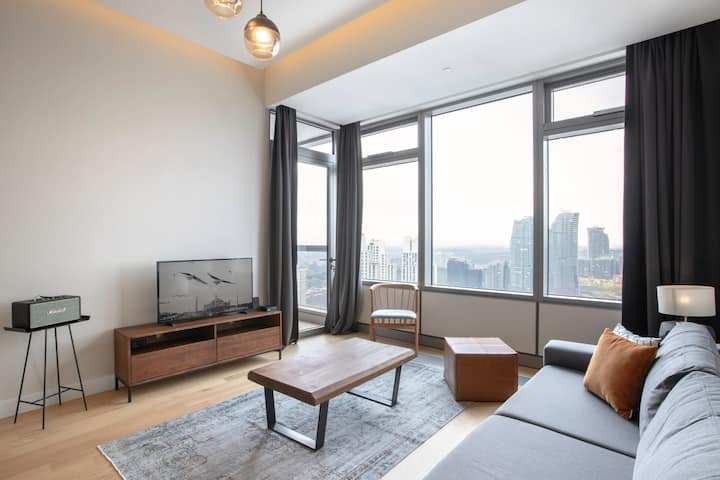 Superb 1BR at 42 Maslak with Pool & City View