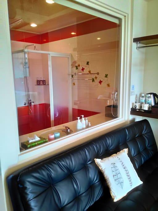 攬月海景雙人房浴室