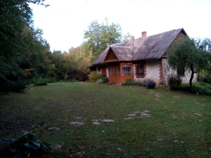Siedlisko Wydry (holiday house with fireplace)