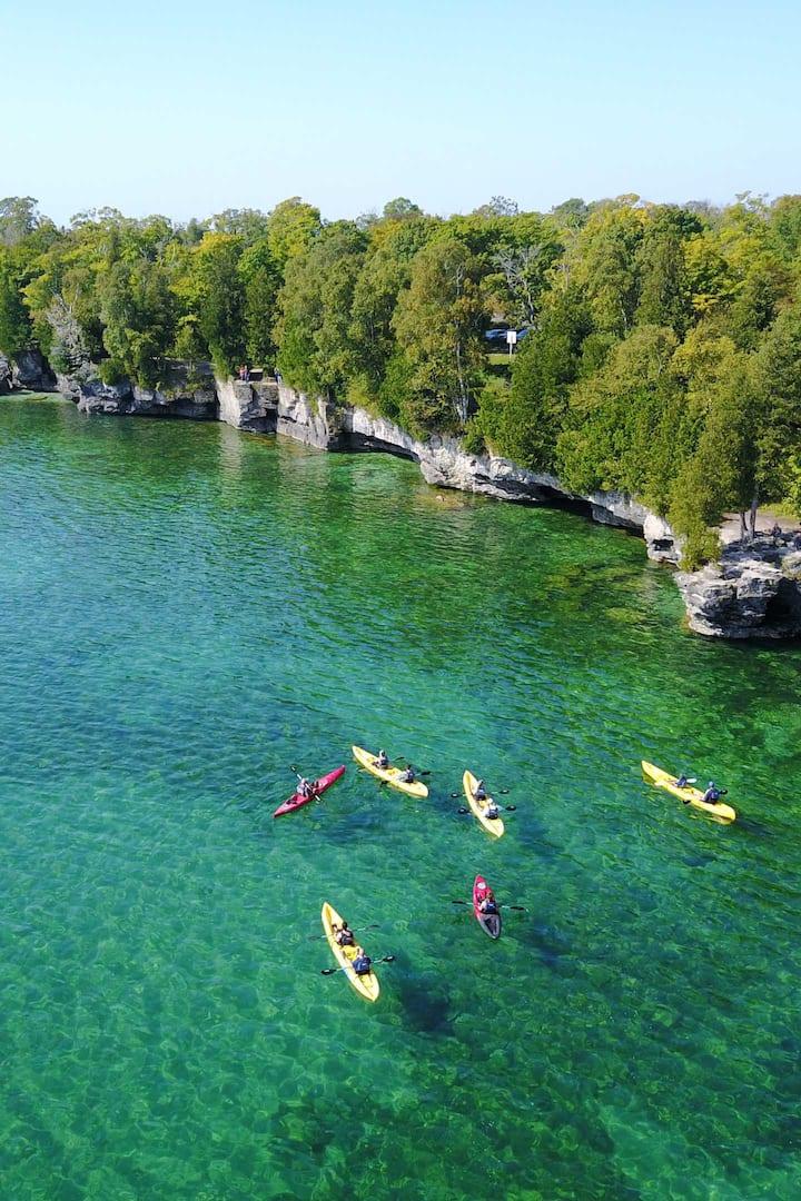 A fun coastline to explore by kayak