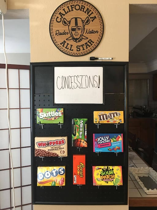 Concession Stand , Enjoy Free Candy with your Movie !