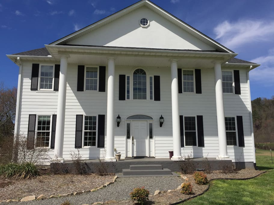 Our beautiful plantation style home...   Stands majestic and proud.