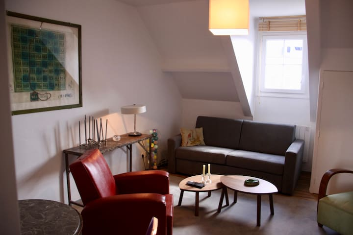 Central 1 bedroom equipped 455sqf flat, quiet area