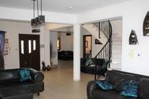 Spaciuos open-plan interior
