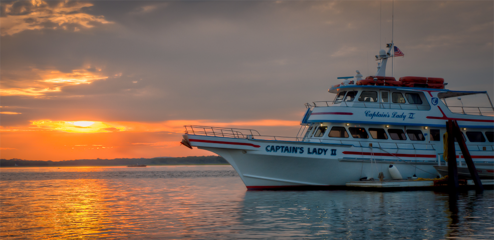 Sunset cruise from Newburyport or Plum Island right next to our cottage!