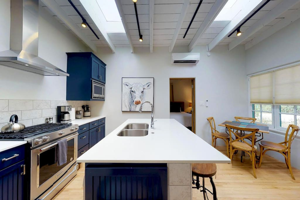 Kitchen with all chef grade appliances