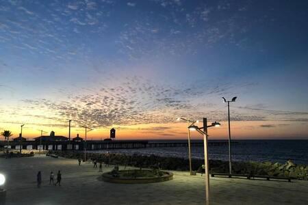 Flat , Praia de Iracema, hospedagem frente ao mar!