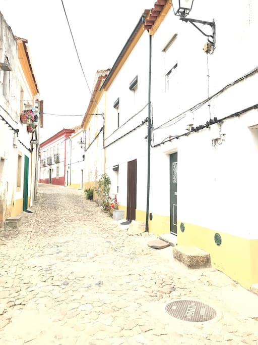 Rua onde se encontra a casa
