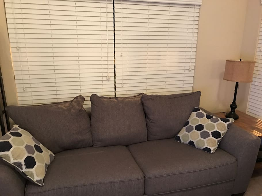 Comfy couch to sleep on in the living room