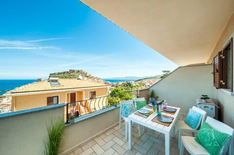 ★★ ★★★Lovely sea view Castelsardo free parking