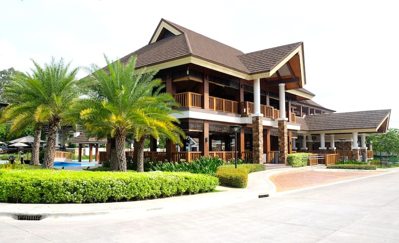 Entrance of the clubhouse.