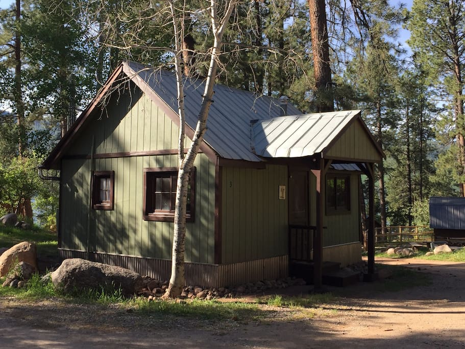 The Birch Cabin is a 150' walk down to the lake.