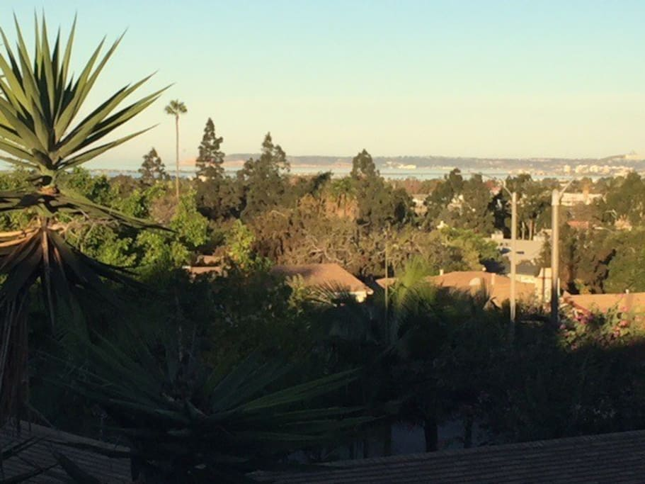 Morning view from your bedroom of Point Loma and the Pacific Ocean