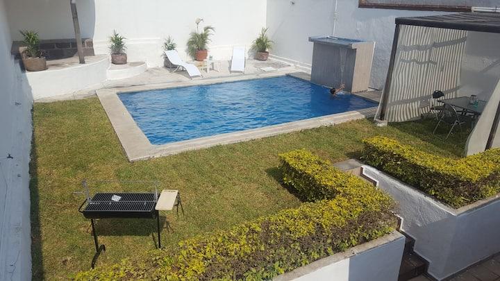 Casa Nautica Oaxtepec, Alberca clima, sol yAsador,